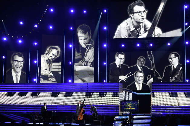 Tribute to late jazz musician Dave Brubeck onstage at the 55th Annual GRAMMY Awards at Staples Center on February 10, 2013 in Los Angeles, California. Photo: Kevork Djansezian, Getty Images / 2013 Getty Images