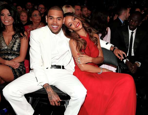 Chris Brown and Rihanna attend the 55th Annual GRAMMY Awards at STAPLES Center on February 10, 2013 in Los Angeles, California. Photo: Christopher Polk, Getty Images For NARAS / 2013 Getty Images