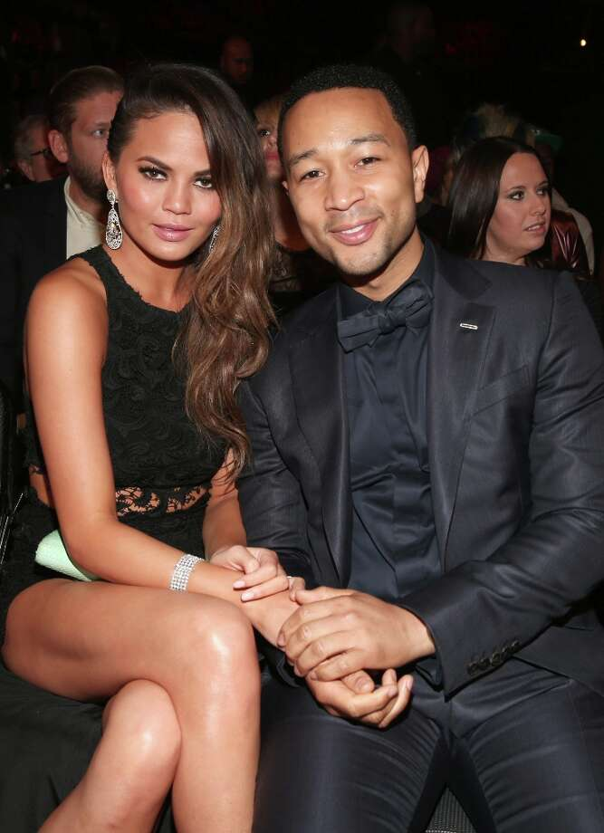 Model Christine Teigen (L) and singer John Legend attend the 55th Annual GRAMMY Awards at STAPLES Center on February 10, 2013 in Los Angeles, California. Photo: Christopher Polk, Getty Images For NARAS / 2013 Getty Images