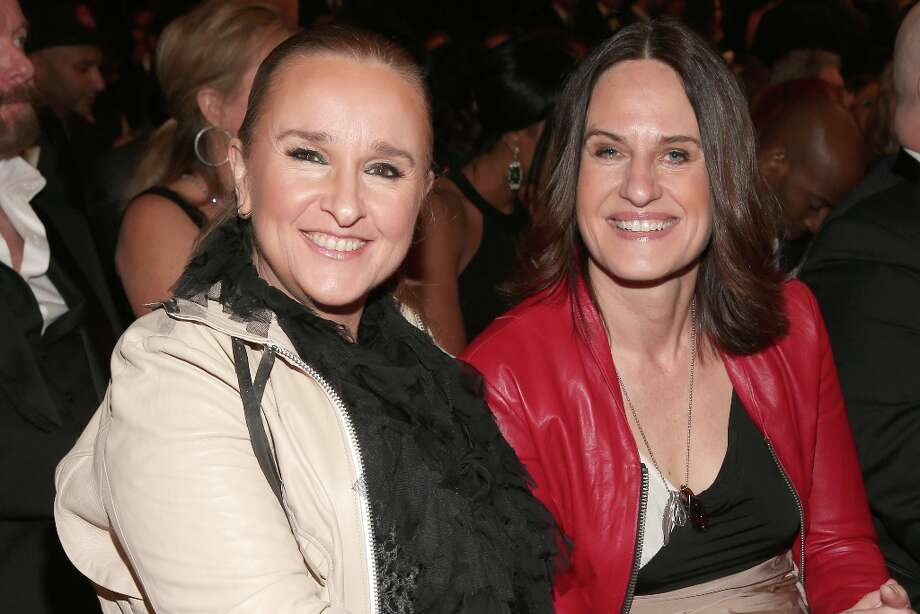 Singer Melissa Etheridge (L) and guest attend the 55th Annual GRAMMY Awards at STAPLES Center on February 10, 2013 in Los Angeles, California. Photo: Christopher Polk, Getty Images For NARAS / 2013 Getty Images