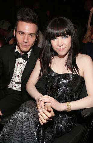 Singers Matthew Koma (L) and Carly Rae Jepsen attend the 55th Annual GRAMMY Awards at STAPLES Center on February 10, 2013 in Los Angeles, California. Photo: Christopher Polk, Getty Images For NARAS / 2013 Getty Images
