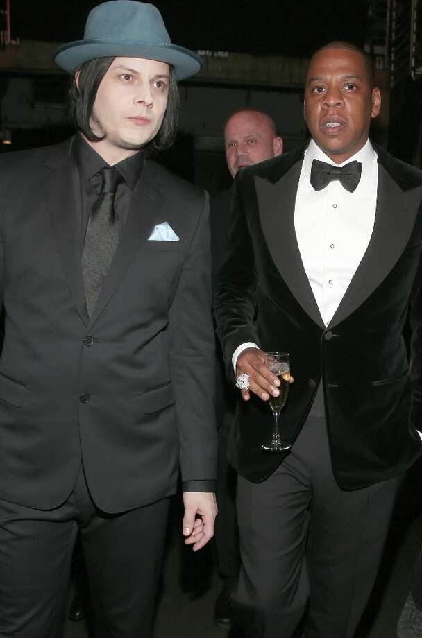 LOS ANGELES, CA - FEBRUARY 10:  Musician Jack White (L) and rapper Jay-Z attend the 55th Annual GRAMMY Awards at STAPLES Center on February 10, 2013 in Los Angeles, California. Photo: Christopher Polk, Getty Images For NARAS / 2013 Getty Images