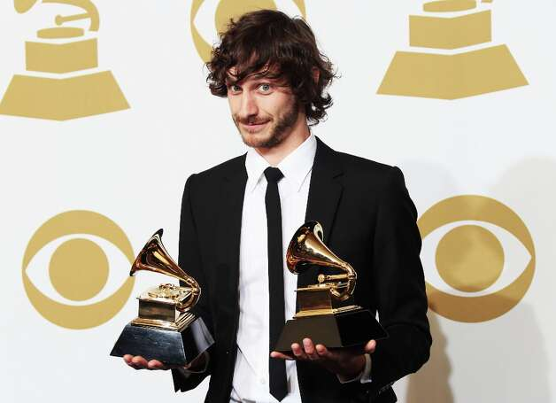 LOS ANGELES, CA - FEBRUARY 10:  Singer Gotye, winner of Best Alternative Music Album for Making Mirrors and Best Pop Duo/Group Performance for Somebody That I Used to Know, poses in the press room at the 55th Annual GRAMMY Awards at Staples Center on February 10, 2013 in Los Angeles, California. Photo: Frederick M. Brown, Getty Images / 2013 Getty Images