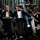 LOS ANGELES, CA - FEBRUARY 10:  Singer Justin Timberlake performs onstage at the 55th Annual GRAMMY Awards at Staples Center on February 10, 2013 in Los Angeles, California.