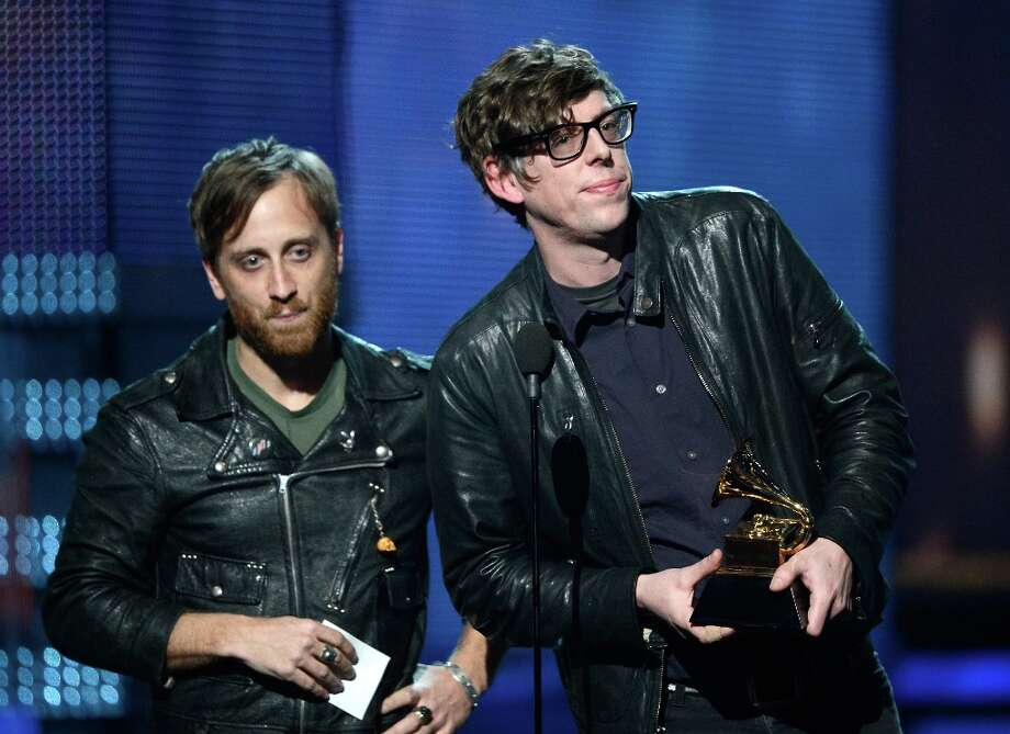 LOS ANGELES, CA - FEBRUARY 10:  Musicians Dan Auerbach (L) and Patrick Carney of the Black Keys accept Best Rock Performance for Lonely Boy onstage at the 55th Annual GRAMMY Awards at Staples Center on February 10, 2013 in Los Angeles, California. Photo: Kevork Djansezian, Getty Images / 2013 Getty Images