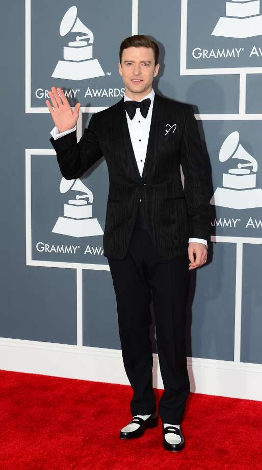 Musician/actor Justin Timberlake arrives on the red carpet at the Staples Center for the 55th Grammy Awards in Los Angeles, California, February 10, 2013. AFP PHOTO Frederic J. BROWN Photo: FREDERIC J. BROWN, AFP/Getty Images / AFP