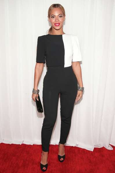 Singer Beyonce attends the 55th Annual GRAMMY Awards at STAPLES Center on February 10, 2013 in Los A
