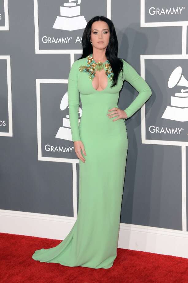 Singer Katy Perry arrives at the 55th Annual GRAMMY Awards at Staples Center on February 10, 2013 in Los Angeles, California. Photo: Jason Merritt, Getty Images / 2013 Getty Images