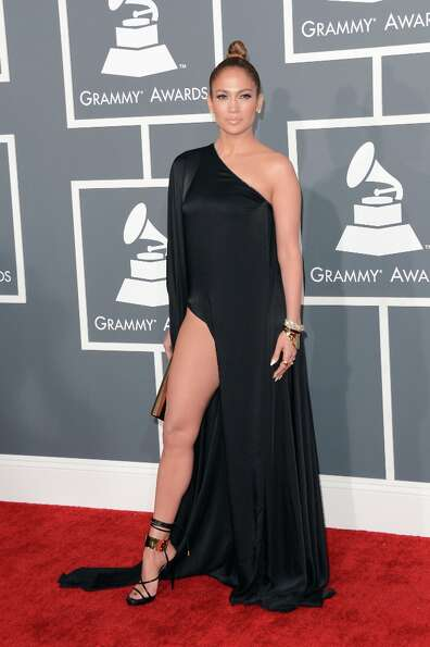 Singer Jennifer Lopez arrives at the 55th Annual GRAMMY Awards at Staples Center on February 10, 201