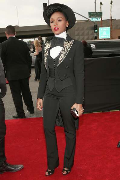 Singer Janelle Monae attends the 55th Annual GRAMMY Awards at STAPLES Center on February 10, 2013 in