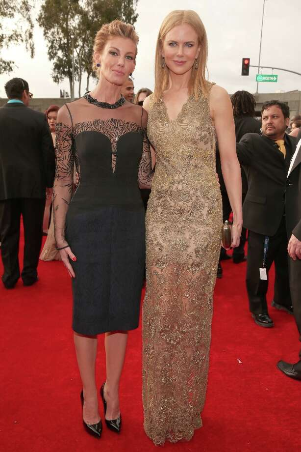 Singer Faith Hill (L) and actress Nicole Kidman attend the 55th Annual GRAMMY Awards at STAPLES Center on February 10, 2013 in Los Angeles, California. Photo: Christopher Polk, Getty Images For NARAS / 2013 Getty Images