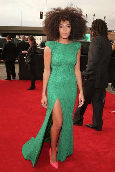 Singer Solange Knowles attends the 55th Annual GRAMMY Awards at STAPLES Center on February 10, 2013