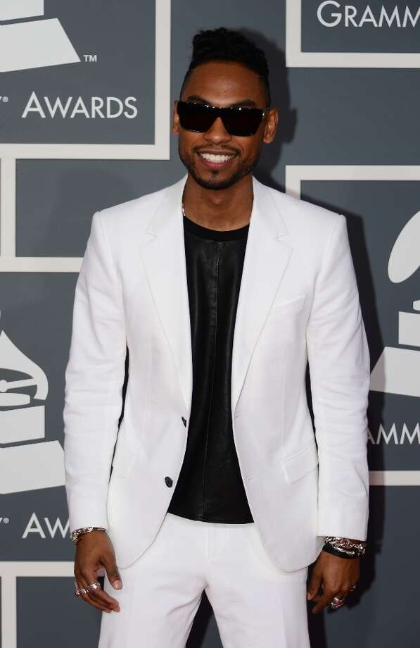 Nominee for Song of the Year, Best R&B Performance, Best R&B Song, Best Urban Contemporary Album and Best Rap Song Miguel arrives on the red carpet at the Staples Center for the 55th Grammy Awards in Los Angeles, California, February 10, 2013. AFP PHOTO Frederic J. BROW Photo: FREDERIC J. BROWN, AFP/Getty Images / AFP
