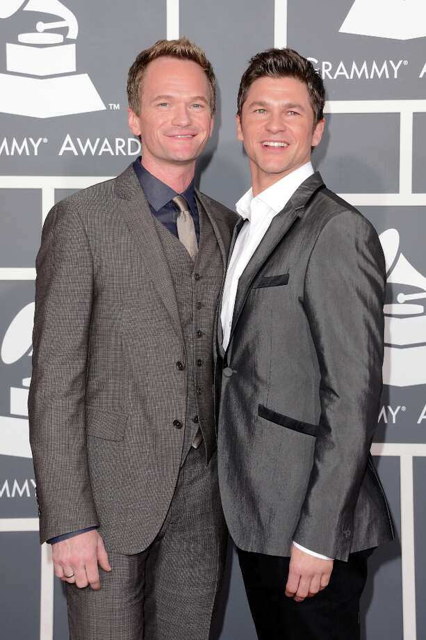 Actor Neil Patrick Harris (L) and David Burtka arrive at the 55th Annual GRAMMY Awards at Staples Center on February 10, 2013 in Los Angeles, California. Photo: Jason Merritt, Getty Images / 2013 Getty Images