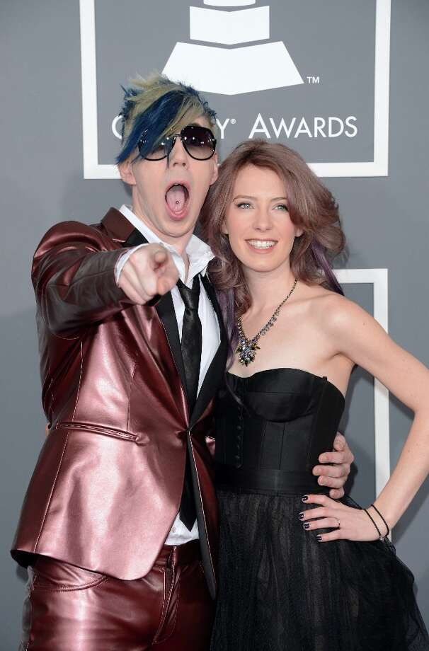 Musician Josh Ramsay (L) and Amanda McEwan arrive at the 55th Annual GRAMMY Awards at Staples Center on February 10, 2013 in Los Angeles, California. Photo: Jason Merritt, Getty Images / 2013 Getty Images