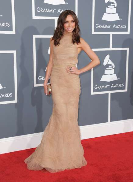 Giuliana Rancic arrives at the 55th annual Grammy Awards on Sunday, Feb. 10, 2013, in Los Angeles.