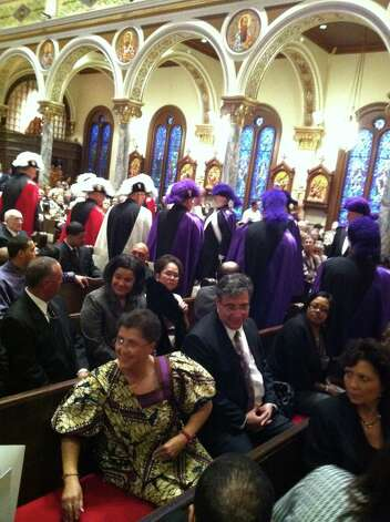 Beaumont's first African-American bishop celebrated the 25th anniversary of his episcopal ordination on Sunday at St. Anthony Cathedral Basilica. Photo: Ioanna Makris