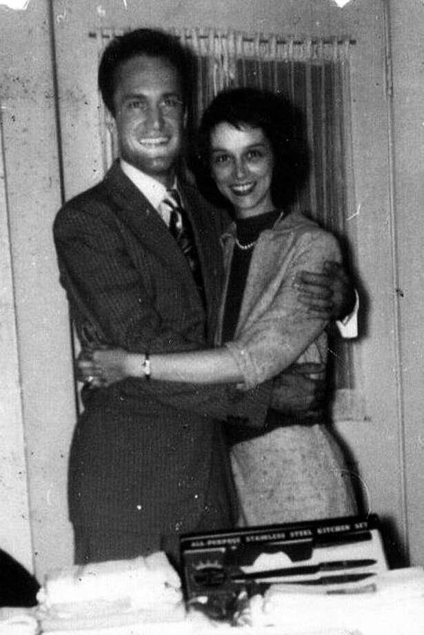 Jack and Bertha Binks two weeks after their wedding. Photo: Jackie Binks