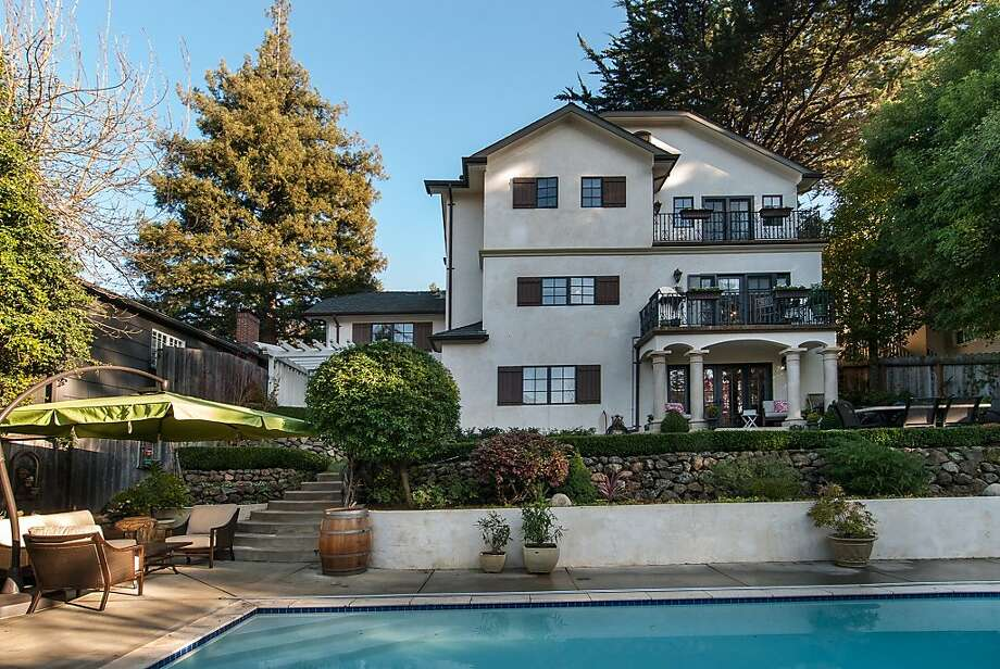 The San Mateo home has a pool in its back yard. Photo: Dieter Hartmann Photography