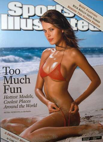 Petra Němcová on the 2003 Sports Illustrated Swimsuit issue cover. Photo: Sports Illustrated
