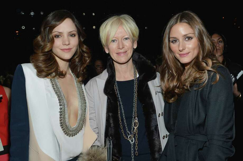 Katharine McPhee, Cosmopolitan Magazine Editor-in-Chief Joanna Coles and Olivia Palermo attend the Diane Von Furstenberg Fall 2013 fashion show during Mercedes-Benz Fashion at The Theatre at Lincoln Center on February 10, 2013 in New York City.  (Photo by Mike Coppola/Getty Images for Mercedes-Benz Fashion Week) Photo: Mike Coppola, (Credit Too Long, See Caption) / 2013 Getty Images