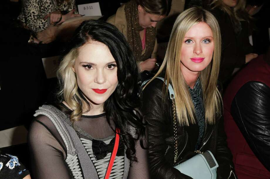 Kate Nash, left, and Nicky Hilton at the Rebecca Minkoff  Fall 2013 collection, Friday, Feb. 8, 2013 during Fashion Week in New York. (AP Photo/Starpix, Andrew Toth) Photo: Andrew Toth, Associated Press / STARPIX