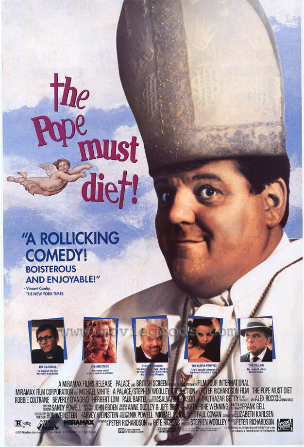 THE POPE MUST DIE [AKA: The Pope Must Diet] (1991) - Another accidental ascension, this time with Robbie Coltrane as a less than savory priest who stumbles into the job, but not without dealing with Vatican corruption, and old lover and, like in 'The Godfather Part III,' the mob. Unlike that film, the comedy here is intentional.