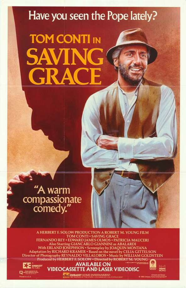 SAVING GRACE (1986) - A sheltered pope (Tom Conti) finds himself locked outside the Vatican walls where he has to fend for himself in a poor Italian village.