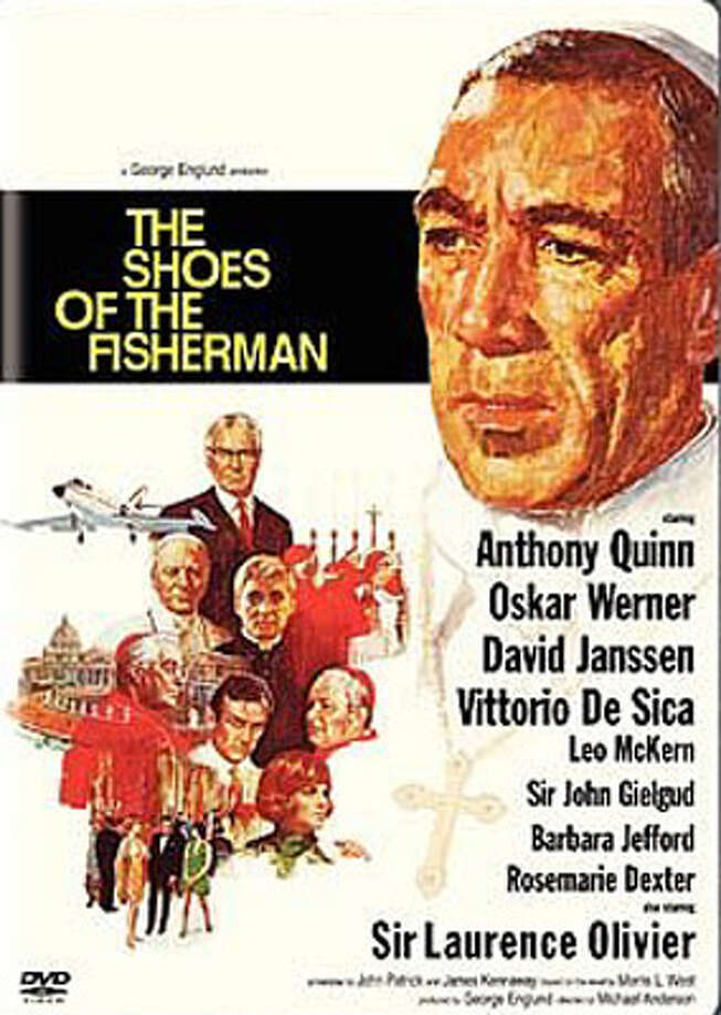 THE SHOES OF THE FISHERMAN (1968) - See what the late 80s were supposed to look like in this drama based on the Morris West novel about a Ukrainian archbishop (Anthony Quinn) who is set free after 20 years in a Siberian prison only to find himself thrust into machinations that make him the new pope as the world teeters on the brink of a nuclear war between the Soviet Union and China, further exacerbated by a Chinese famine caused by U.S. trade restrictions. Also stars Laurence Olivier and John Gielgud.