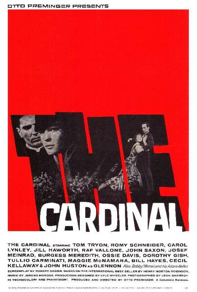 THE CARDINAL (1963) - This one is not about a pope per se, but an American priest who rises up the c