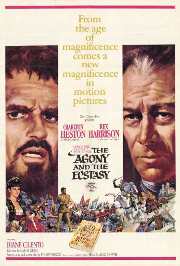 THE AGONY AND THE ECSTASY (1965) - Michelangelo (Charlton Heston) tees off against Pope Julius II (Rex Harrison) over the painting of the Sistine Chapel's ceiling in this five-time Oscar-nominated historical drama.