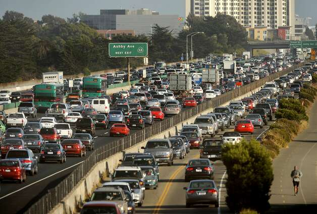 Traffic crawls along I-80 through Berkeley, Calif., on July 12, 2012. According to the Urban Mobility Report, the Bay Area ties Los Angeles for having the second-worst congestion in the country.  ** FILE PHOTO NOT ORIGINALLY SHOT FOR SFC - OK TO USE FOR TRAFFIC STORY ** Photo: Noah Berger, Special To The Chronicle