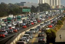 Traffic crawls along I-80 through Berkeley, Calif., on July 12, 2012. According to the Urban Mobility Report, the Bay Area ties Los Angeles for having the second-worst congestion in the country.  ** FILE PHOTO NOT ORIGINALLY SHOT FOR SFC - OK TO USE FOR TRAFFIC STORY **