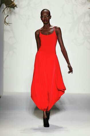 A model walks the runway at the CZAR by Cesar Galindo Fall 2013 fashion show during Mercedes-Benz Fashion Week at The Studio at Lincoln Center on February 8, 2013 in New York City.  (Photo by Peter Michael Dills/Getty Images for Mercedes-Benz Fashion Week) Photo: Peter Michael Dills, (Credit Too Long, See Caption) / 2013 Getty Images