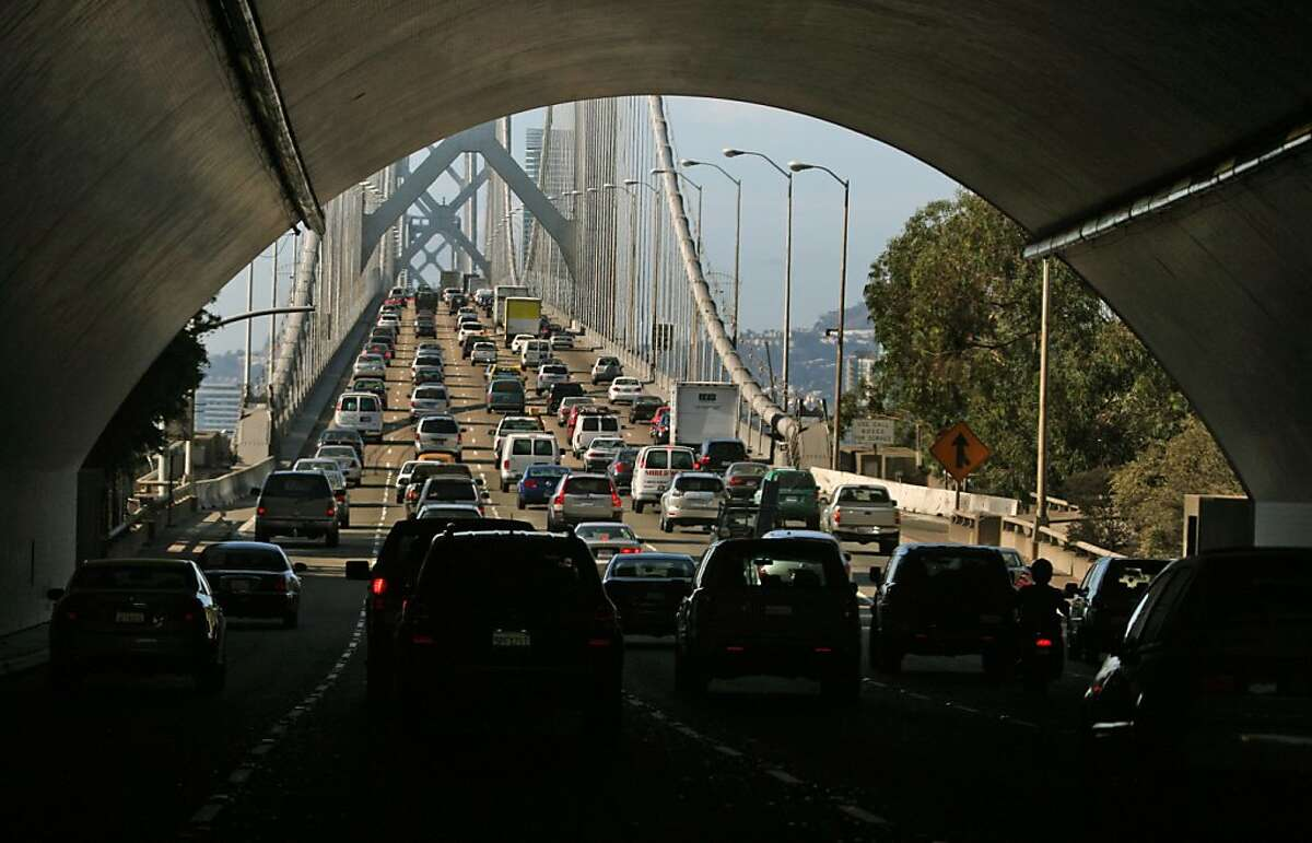 The Bay Bridge continues to be one of the Bay area most Congested commutes. Carbon monoxide, which is produced from combustible engines, remains one of the pollution problems, especially to nature and our environment. September 30, 2008 in San Francisco Calif.