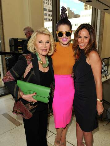 NEW YORK, NY - SEPTEMBER 10:  Joan Rivers, Kelly Osbourne and Melissa Rivers attend the Chris Benz runway show at the Spring 2013 Mercedes-Benz Fashion Week at Avery Fisher Hall, Lincoln Center on September 10, 2012 in New York City. Photo: Craig Barritt, Getty Images / 2012 Getty Images