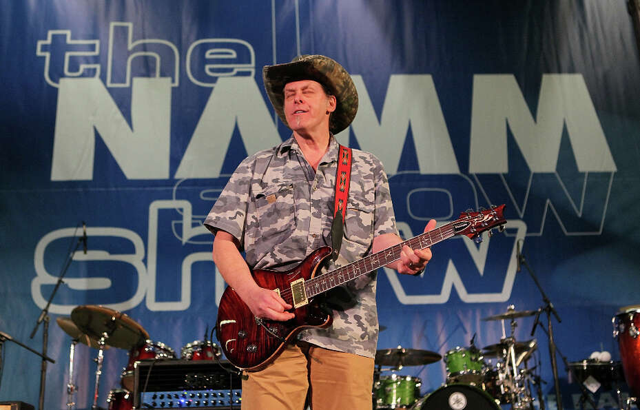 Ted Nugent performs at the 2010 NAMM Show in 2010
