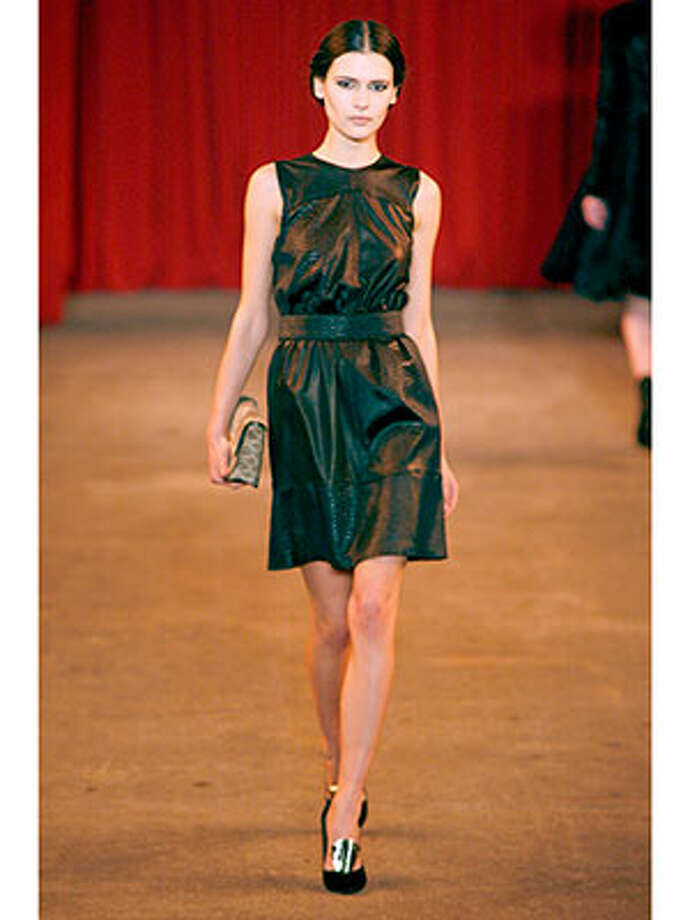 Christian Siriano If you think you're not wearing leather dresses this fall, you're sorely mistaken. Photo: Andy Kropa, Www.cosmopolitan.com  / 2013 Getty Images