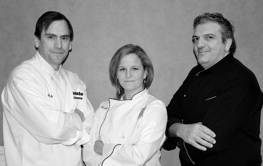 Chefs Art Michaelsen, Sarah Bouissou and Raffaele Gallo will battle to benefit Founders Hall on June 2  at 4 p.m. at Founders Hall. For information, call 203-431-7000.  ### Photo: Contributed Photo