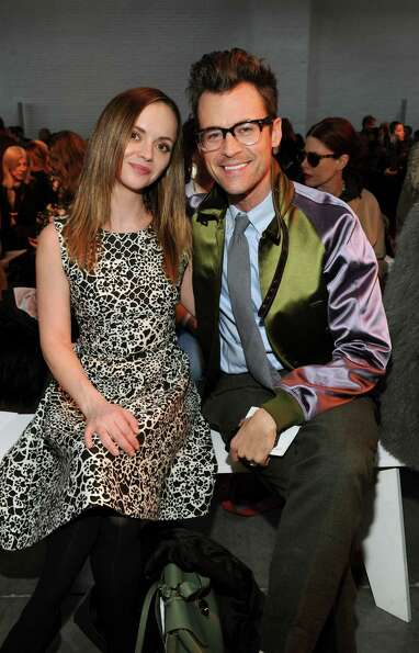 Christina Ricci and Brad Goreski attend the Thakoon fall 2013 fashion show during Mercedes-Benz Fa