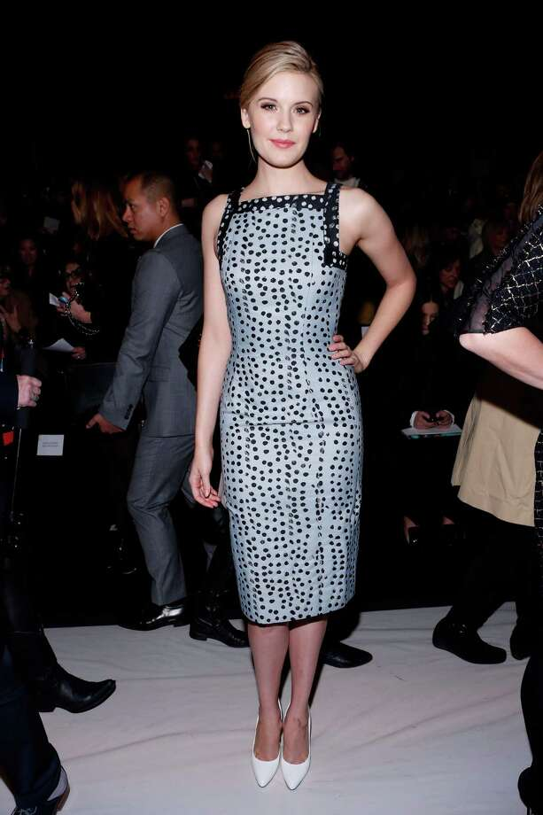 Actress Maggie Grace attends the Carolina Herrera Fall 2013 fashion show during Mercedes-Benz Fashion Week at The Theatre at Lincoln Center on February 11, 2013 in New York City.  (Photo by Cindy Ord/Getty Images for Mercedes-Benz Fashion Week) Photo: Cindy Ord, (Credit Too Long, See Caption) / 2013 Getty Images