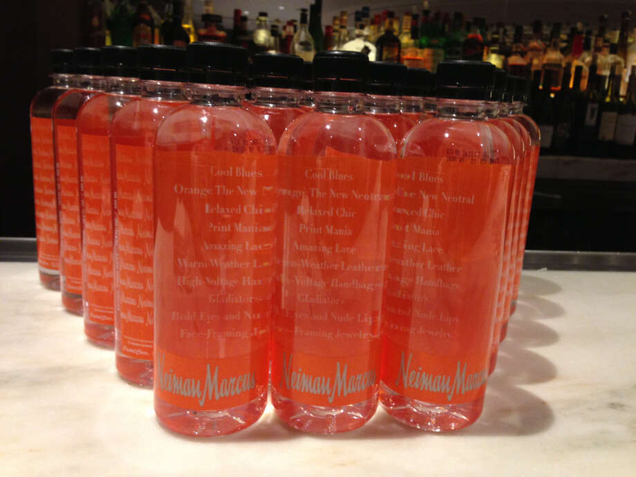 Trendy water bottles at Neiman Marcus's Spring Trend Preview.