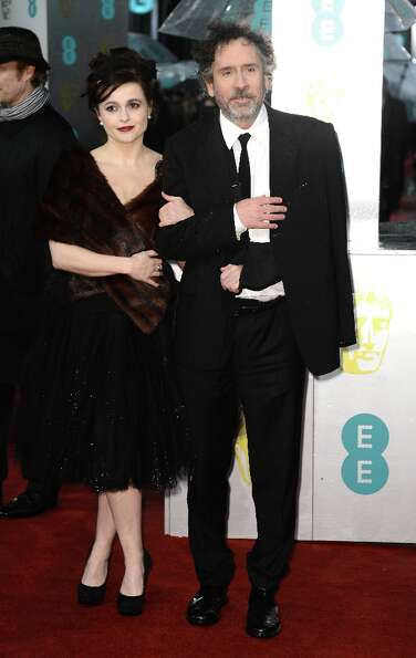Helena Bonham Carter and Tim Burton  attend the EE British Academy Film Awards at The Royal Opera Ho