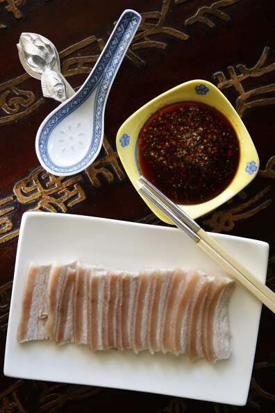 Pork Belly With Garlic Chili Oil Dipping Sauce