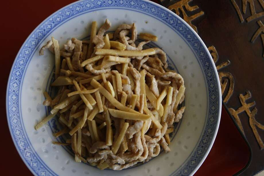 Fresh Bamboo Shoots With Sliced Pork