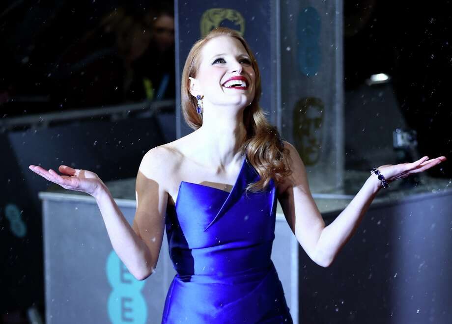 TOPSHOTS  US actress Jessica Chastain poses on the red carpet upon arrival to attend the annual BAFTA British Academy Film Awards at the Royal Opera House in London on February 10, 2013.  AFP PHOTO/ANDREW COWIE Photo: ANDREW COWIE, AFP/Getty Images / AFP