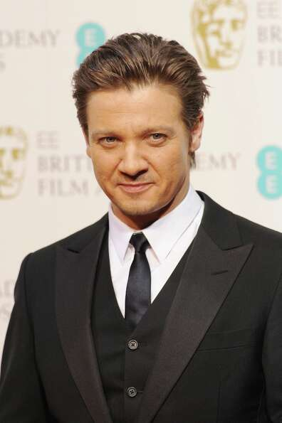 Jeremy Renner poses in the press room at the EE British Academy Film Awards at The Royal Opera House