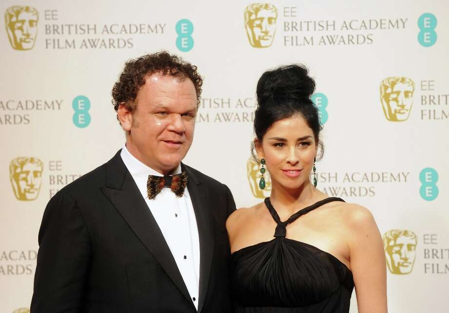 Presenters John C. Reilly (L) and Sarah Silverman pose in the press room at the EE British Academy Film Awards at The Royal Opera House on February 10, 2013 in London, England. Photo: Stuart Wilson, Getty Images / 2013 Getty Images