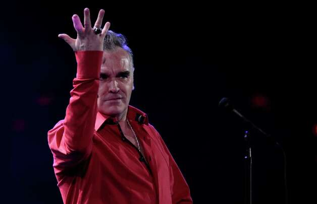 England's singer Morrissey performs at the 53rd annual Vina del Mar International Song Festival in Vina del Mar, Chile, Friday Feb. 24, 2012. (AP Photo/Jorge Saenz) Photo: AP, STF / AP2012