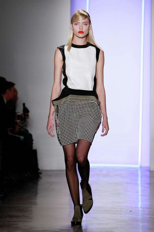 A model walks the runway at the Ohne Titel fall 2013 fashion show during MADE Fashion Week at Milk Studios on February 11, 2013 in New York City. Photo: Mark Von Holden, Getty Images / 2013 Getty Images